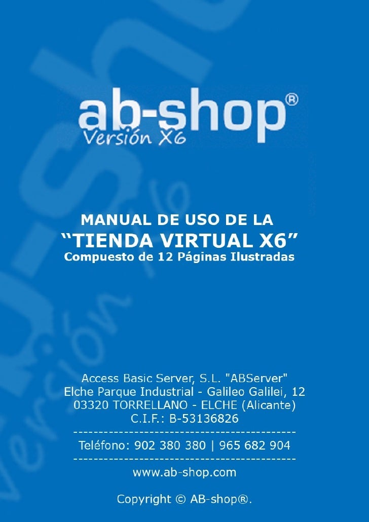 Ab-Shop X6 Manual de Usuario