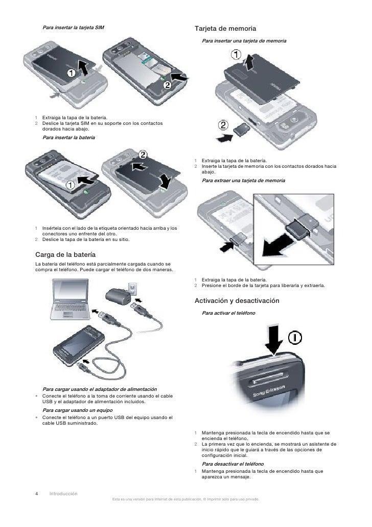 Manual Xperia X1 Esp