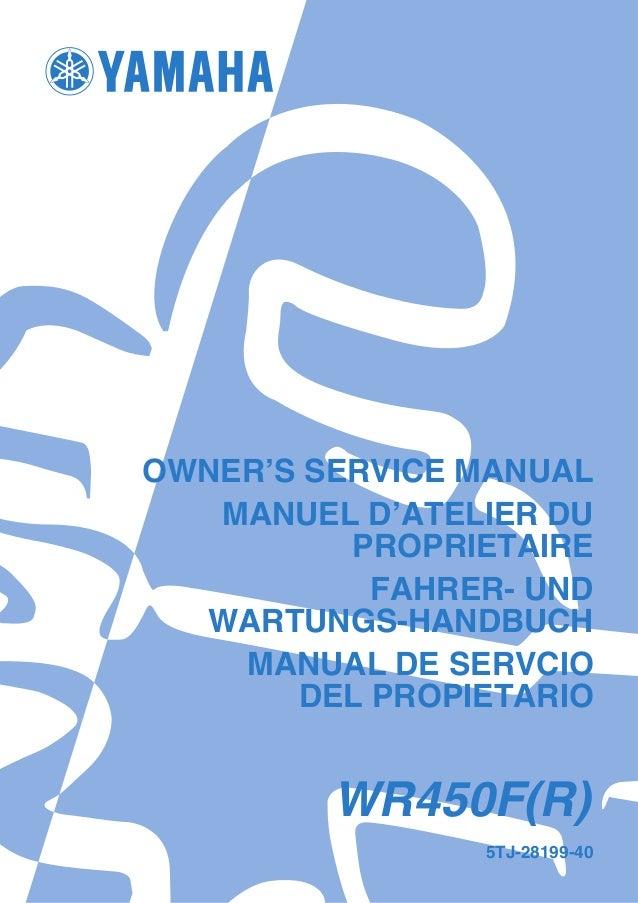 manual yamaha wr450f rh slideshare net 2005 wr450f workshop manual wr450f 2004 workshop manual
