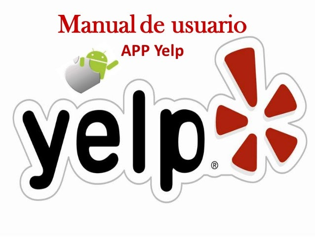 Manual de usuario APP Yelp