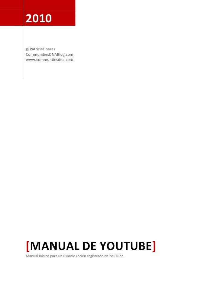 Manual youtube
