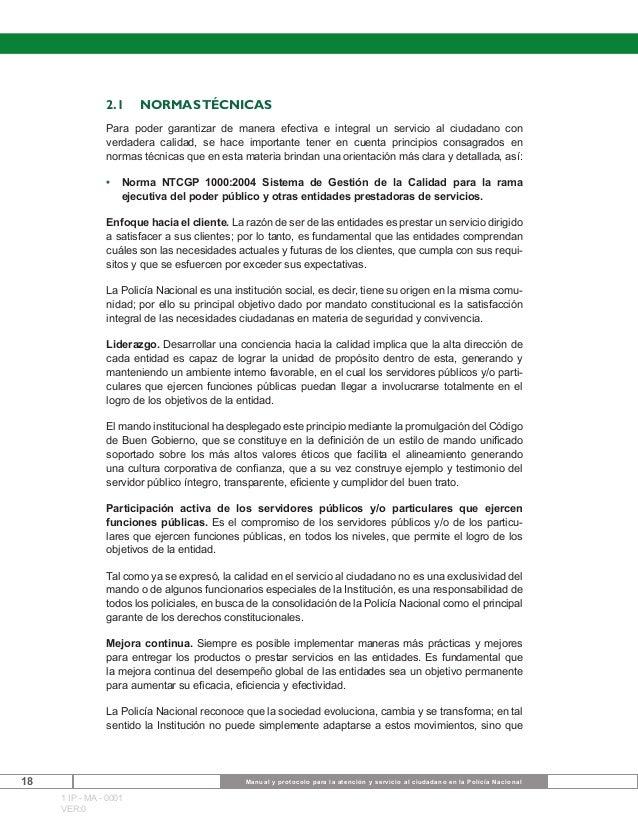 Manual Y Protocolo Para La Atención Y Servicio Al Ciudad
