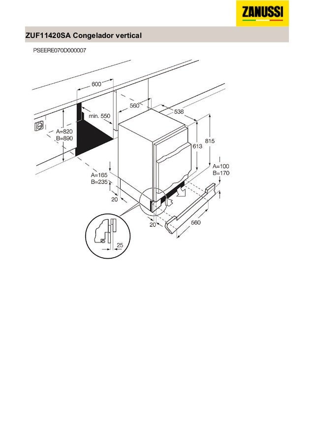 Manual zanussi frigorífico zuf11420sa