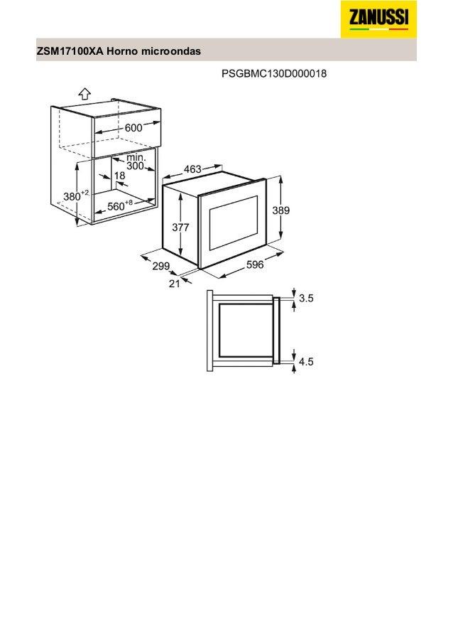 Manual zanussi microondas zsm17100xa