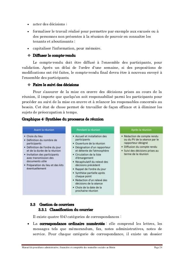 Manuel de procedures administrative financiere et Table financiere