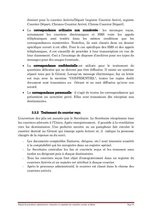 manuel de procedures administrative  financiere et