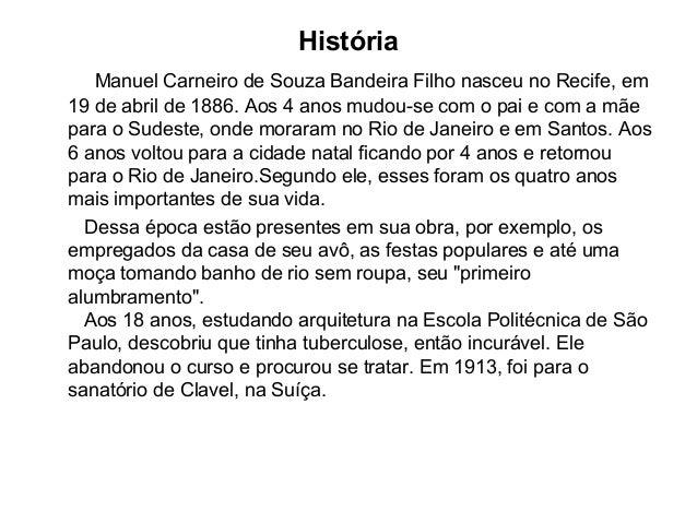 Manuel bandeira (1886 1968) jaine Slide 2