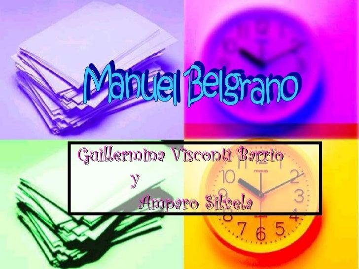 Guillermina Visconti Barrio  y  Amparo Silvela Manuel Belgrano