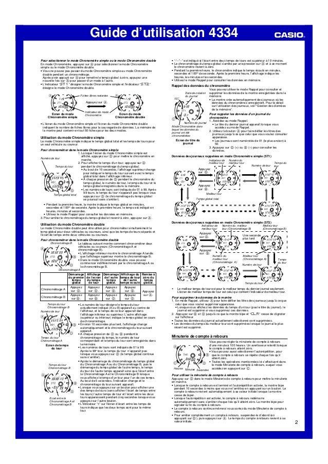 Guide d'utilisation 4334 2 Pour sélectionner le mode Chronomètre simple ou le mode Chronomètre double En mode Chronomètre,...