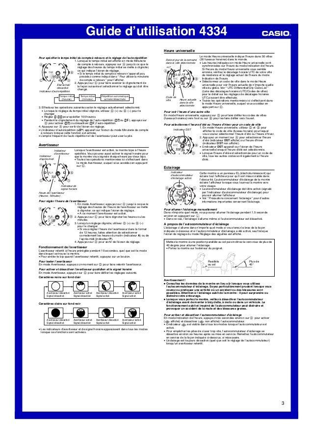 Guide d'utilisation 4334 3 Pour spécifier le temps initial du compte à rebours et le réglage de l'auto-répétition 1. Lorsq...