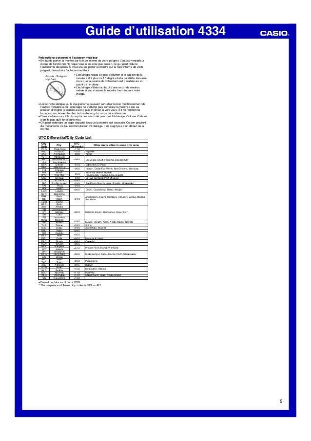 Guide d'utilisation 4334 5 Pago Pago Honolulu Anchorage Vancouver San Francisco Los Angeles Denver Mexico City Chicago Mia...