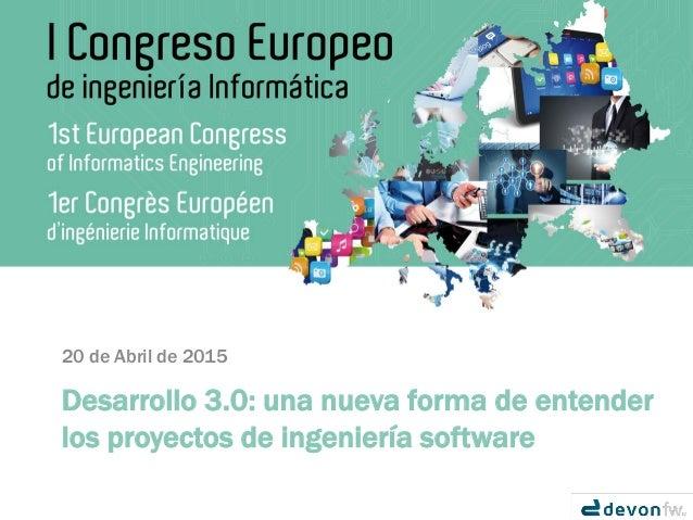 Manuel Cid  Capgemini  CoE-Java-Devon  Semanainformatica com 2015
