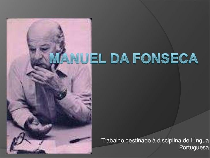Trabalho destinado à disciplina de Língua                              Portuguesa