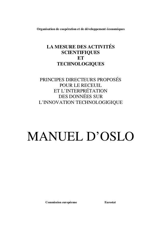 Organisation de coopération et de développement économiques LA MESURE DES ACTIVITÉS SCIENTIFIQUES ET TECHNOLOGIQUES PRINCI...