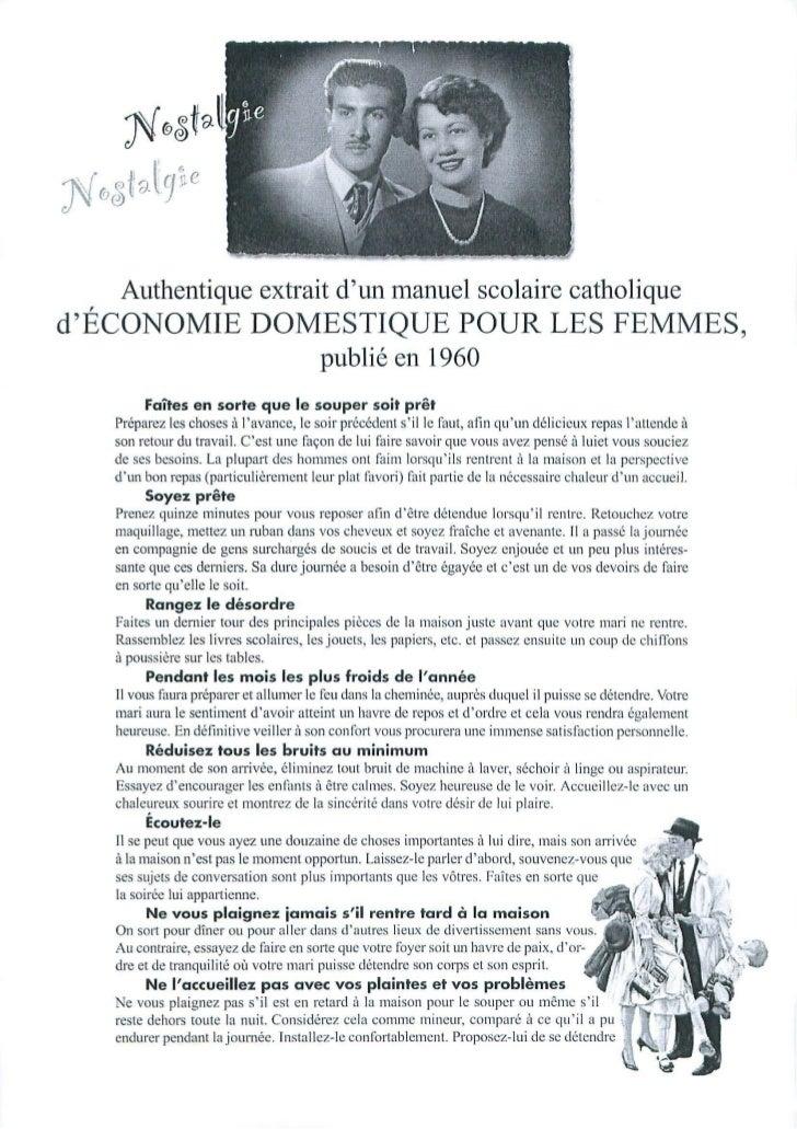 Manuel femmes 1960