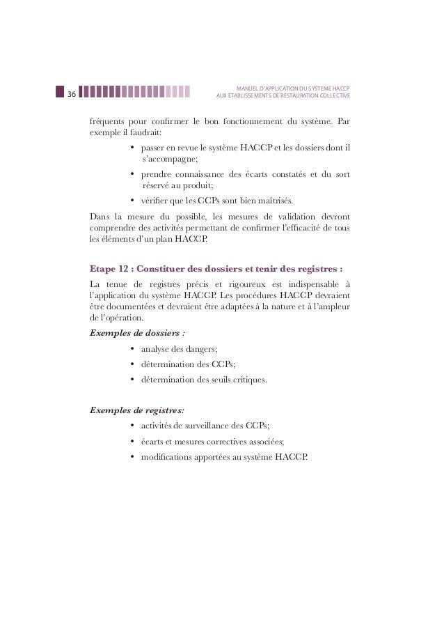 manuel haccp restauration collective - Procedure Haccp Cuisine