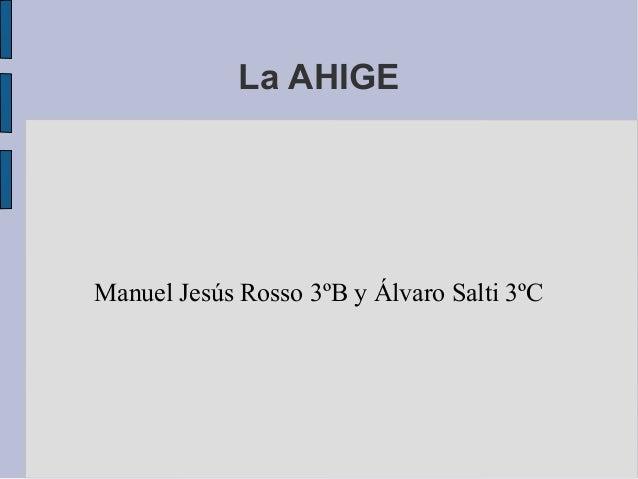 La AHIGEManuel Jesús Rosso 3ºB y Álvaro Salti 3ºC