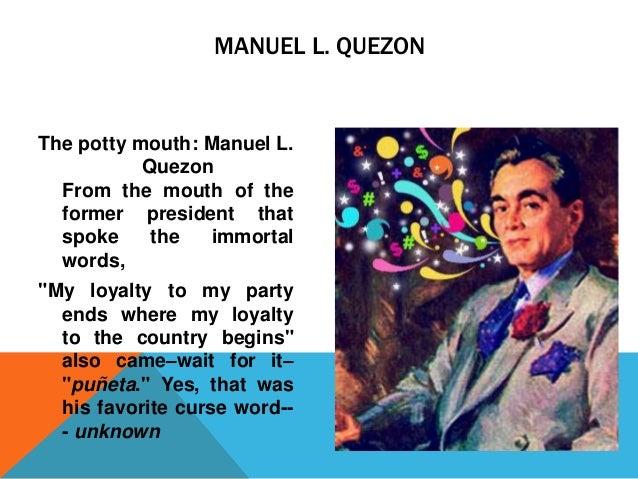 Quezon, Manuel L.