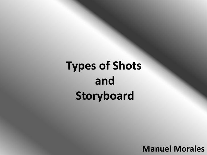 Types of Shots      and  Storyboard                 Manuel Morales
