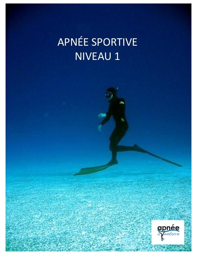 APNÉE SPORTIVE NIVEAU 1