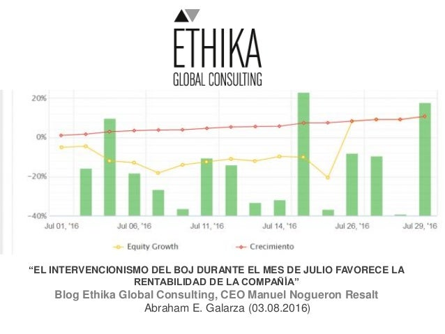 """""""EL INTERVENCIONISMO DEL BOJ DURANTE EL MES DE JULIO FAVORECE LA RENTABILIDAD DE LA COMPAÑÍA"""" Blog Ethika Global Consultin..."""