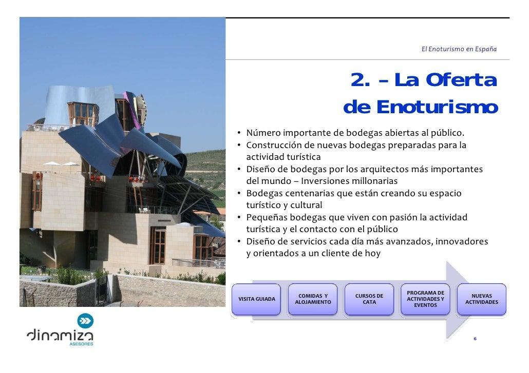 ElEnoturismoenEspaña                                    2. – La Oferta                                de Enoturismo • N...