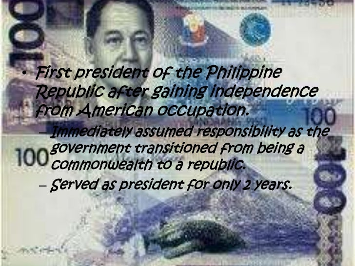 manuel quezon essay Manuel l quezon (born manuel luís quezon molina august 19, 1878 - august 1, 1944) was a filipino statesman, soldier, and politician who served as president of the commonwealth of the philippines from 1935 to 1944.
