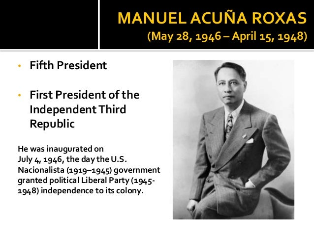 programs of manuel roxas The president manuel l quezon collection is a library of important books, papers, letters and memoirs covering the life of president quezon, his family, and the commonwealth era.