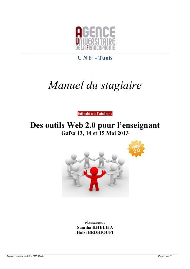 Rapport atelier Web 2 – CNF Tunis                      Page 1 sur 5 C N F - Tuni...