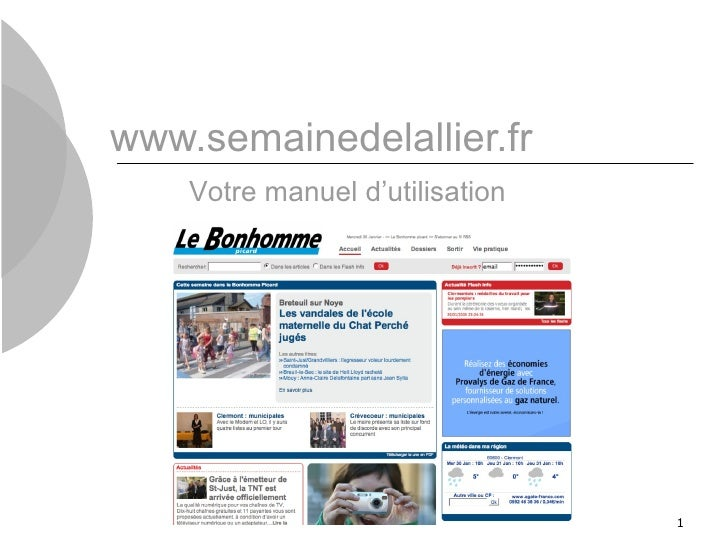 www.semainedelallier.fr Votre manuel d'utilisation