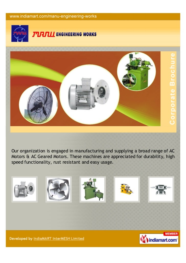 Our organization is engaged in manufacturing and supplying a broad range of ACMotors & AC Geared Motors. These machines ar...