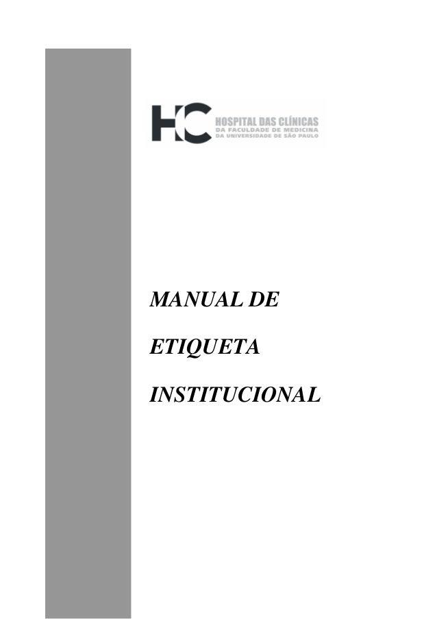 Edi MANUAL DE ETIQUETA INSTITUCIONAL