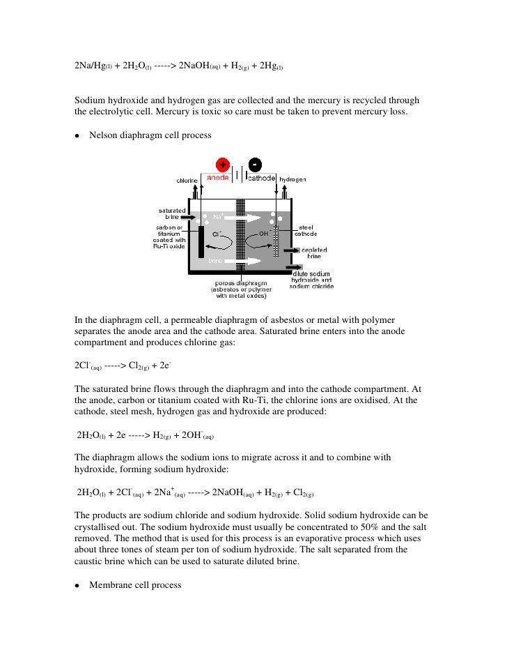Manufacture of sodium hydroxide