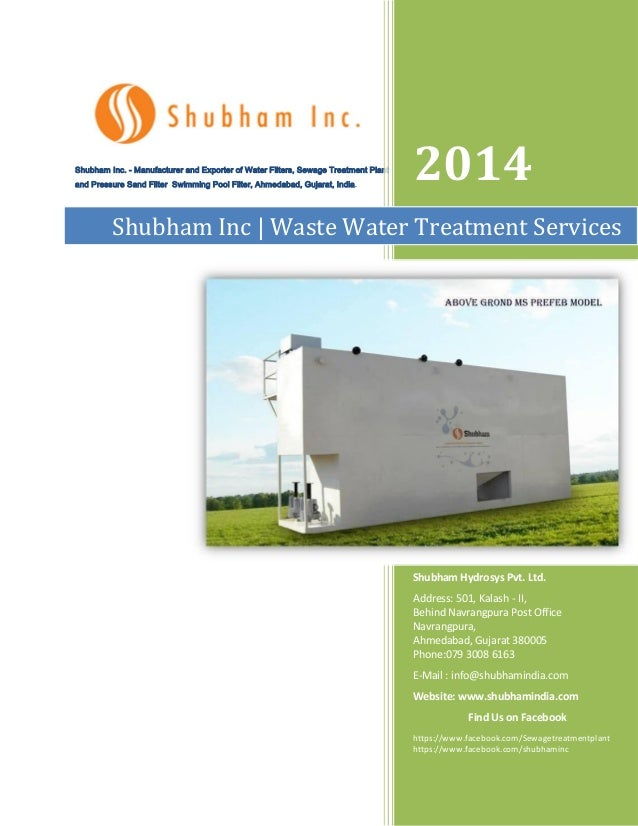 Shubham Inc. - Manufacturer and Exporter of Water Filters, Sewage Treatment Plant and Pressure Sand Filter Swimming Pool F...