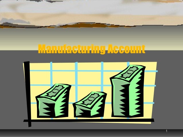 Manufacturing Account                        1