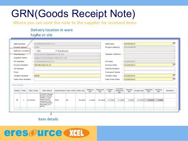 Manufacturing product tour – Goods Received Note Format