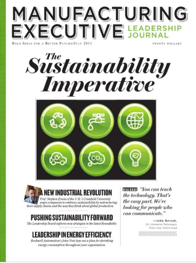 Manufacturing executive leadership journal   sustainability