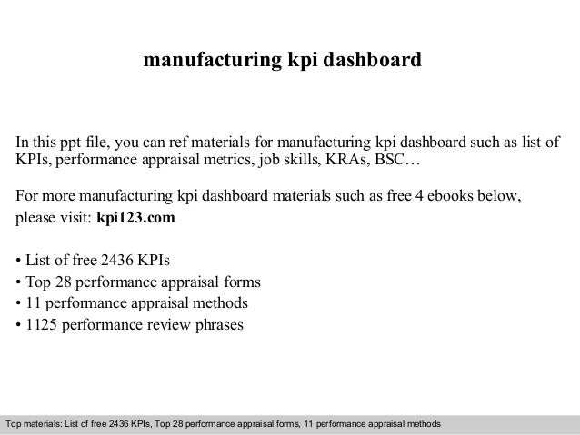 manufacturing kpi dashboard  In this ppt file, you can ref materials for manufacturing kpi dashboard such as list of  KPIs...