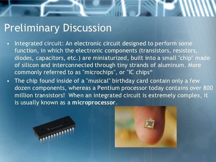 Manufacturing of microprocessor Slide 2