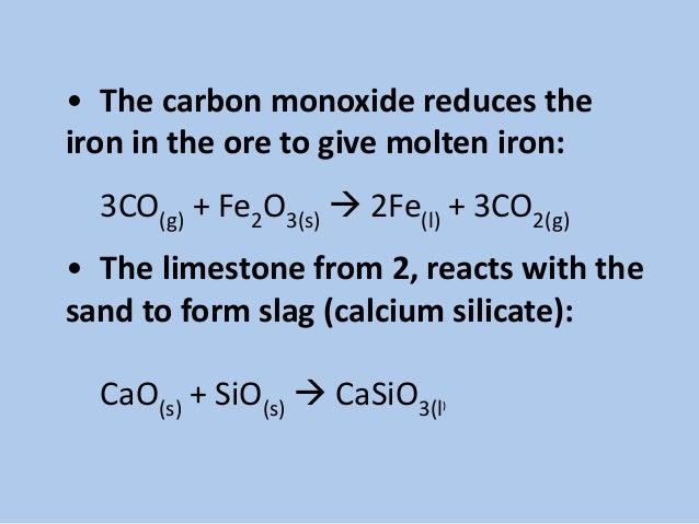 Calcium Silicate Slag : Manufacturing of steel