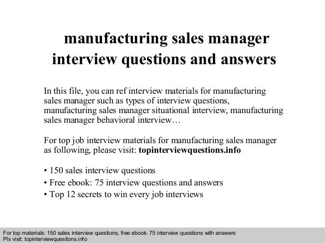 situational interview questions and answers for managers
