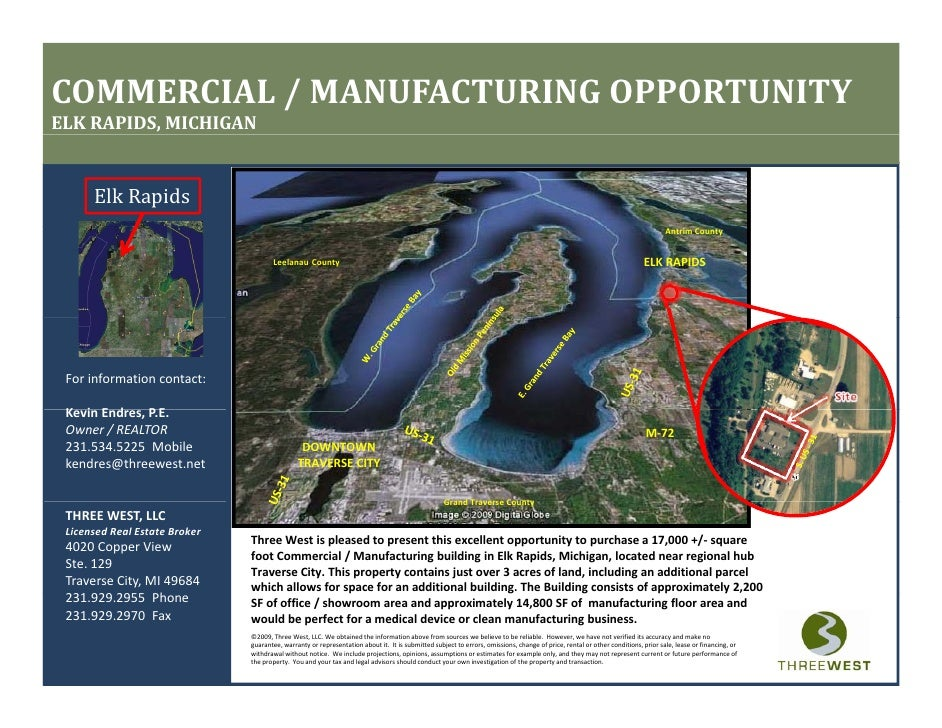 COMMERCIAL / MANUFACTURING OPPORTUNITY ELK RAPIDS, MICHIGAN         Elk Rapids                                            ...