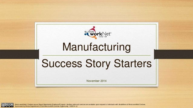 manufacturing success story templates v1