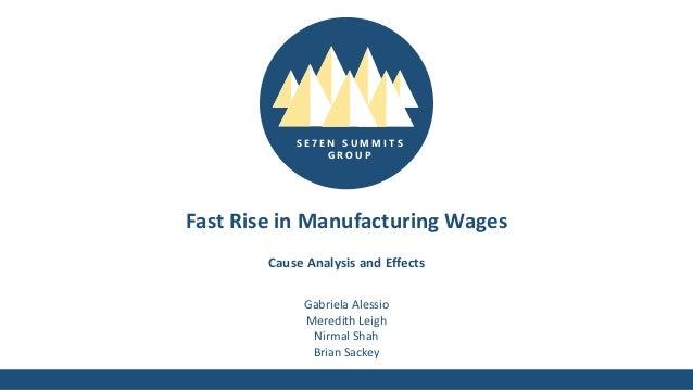 S E 7 E N S U M M I T S G R O U P Fast Rise in Manufacturing Wages Gabriela Alessio Meredith Leigh Nirmal Shah Brian Sacke...