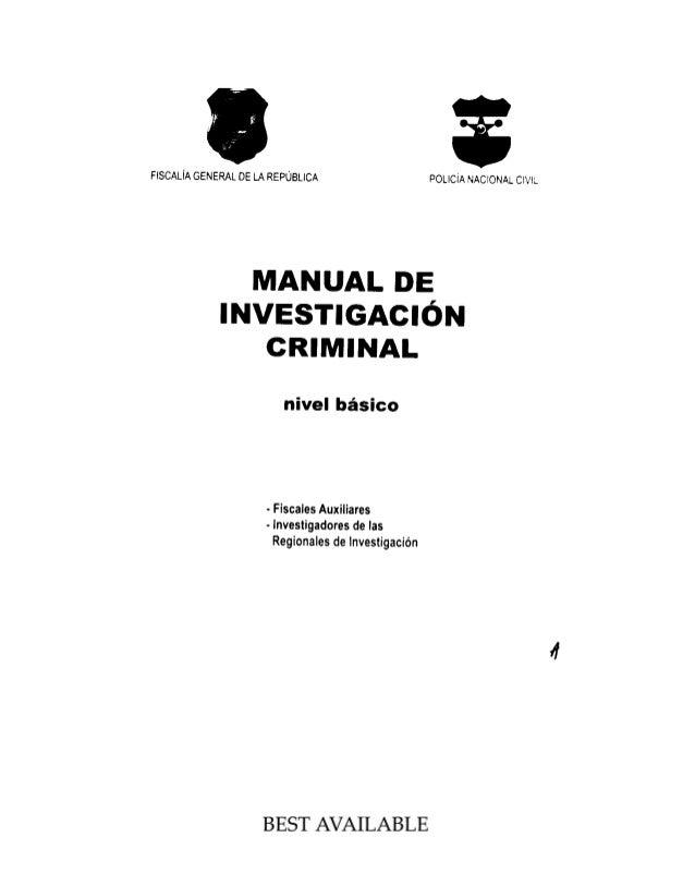 Manula de investigacion criminal_IAFJSR