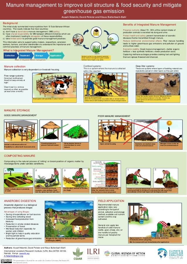 MANURE STORAGE Animal confinement with roof Possibility to collect both feces and urine Covering manure to prevent nutrien...
