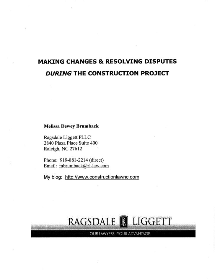 Making Changes on the Construction Project
