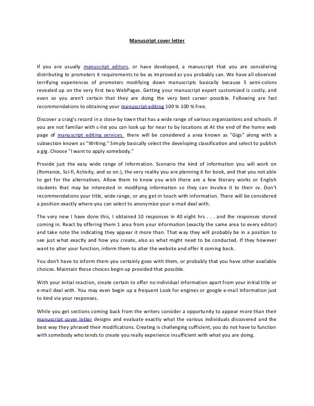 cover letter for journal submission springer