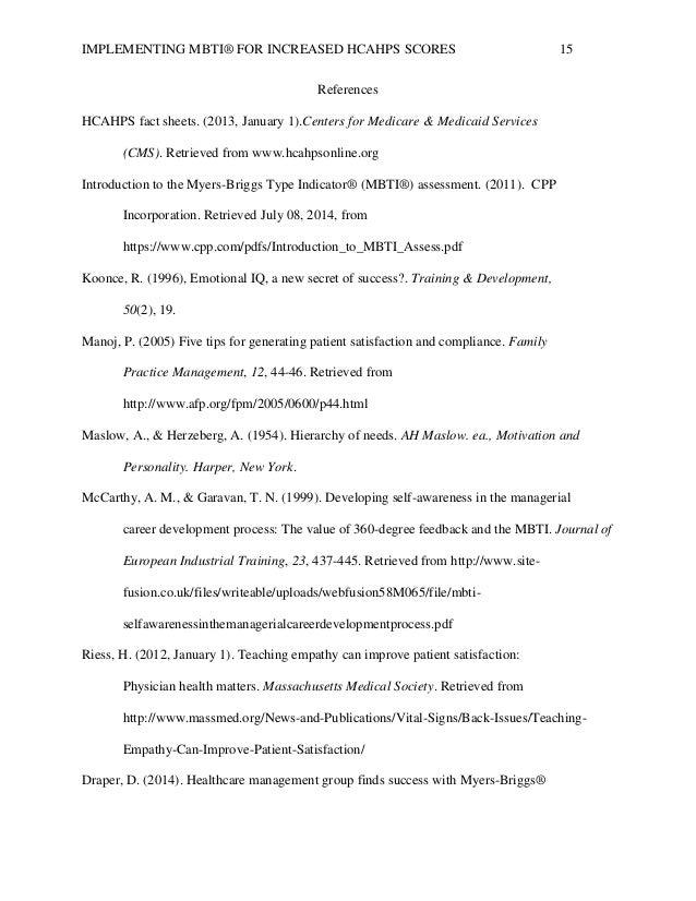 Dissertation appendix myers briggs type indicator