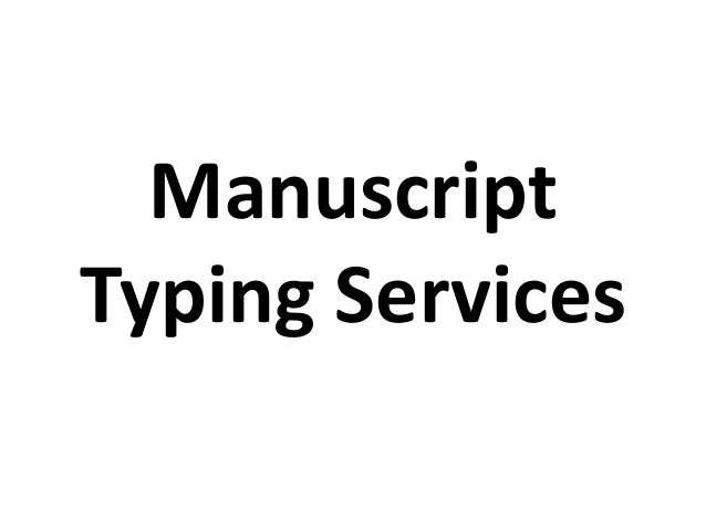 Manuscript service packages available